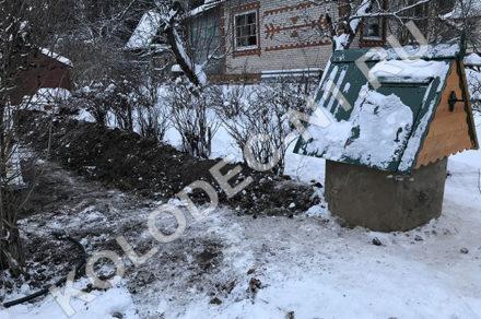 Копка колодцев зимой