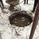 копаем колодец зимой Дмитровский район