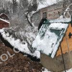 строительство водопровода на даче - траншея от колодца к дому