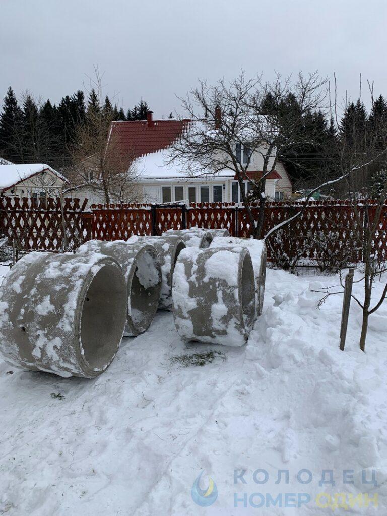 как хранятся зимой бетонные кольца