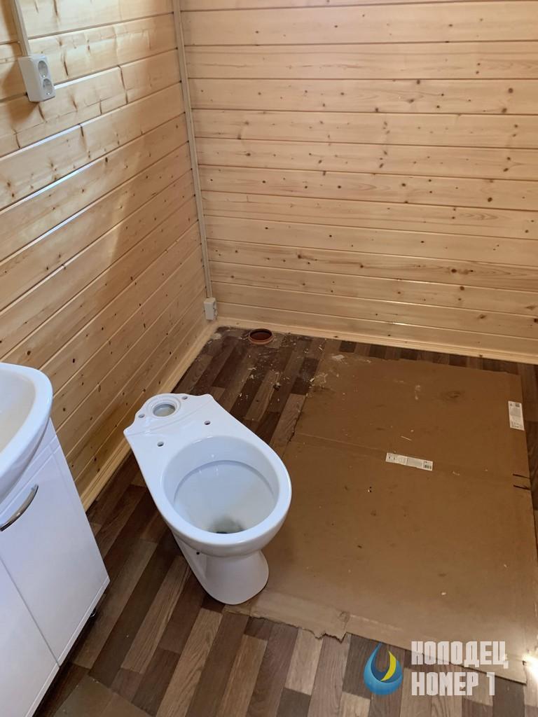 Ванная комната на даче - наша работа