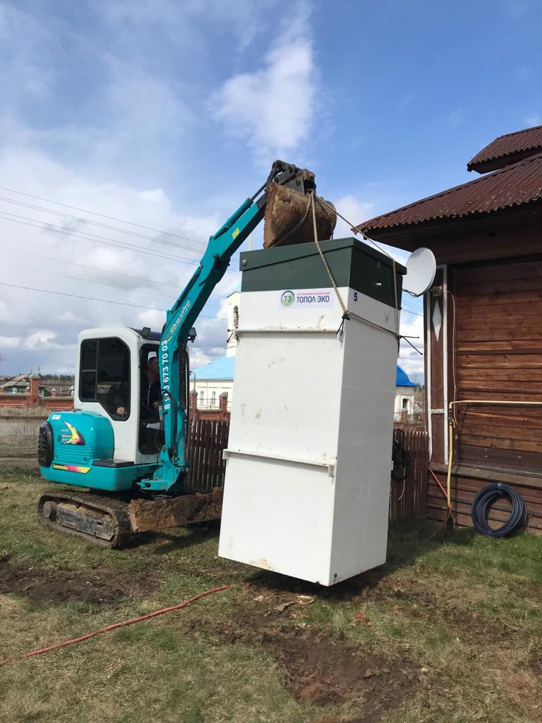 Септик Топас для частного дома в Щёлковском районе