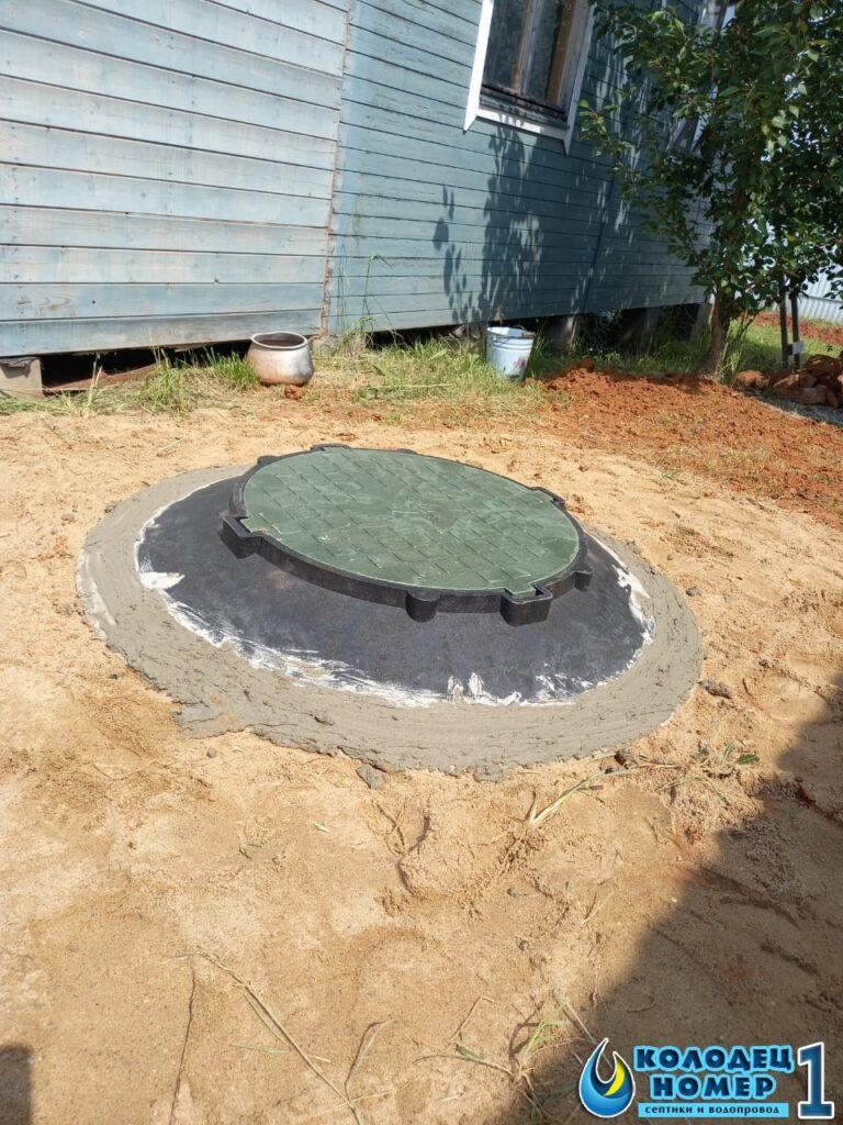 крышка с люком от бетонного септика