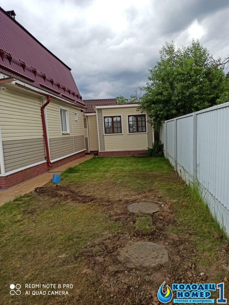 завершение монтажа канализации из септика для дома