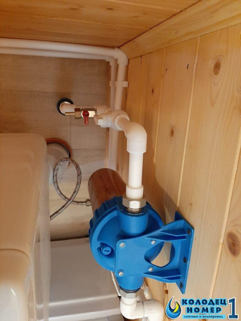 фильтр и реле давления - водоснабжение из колодца