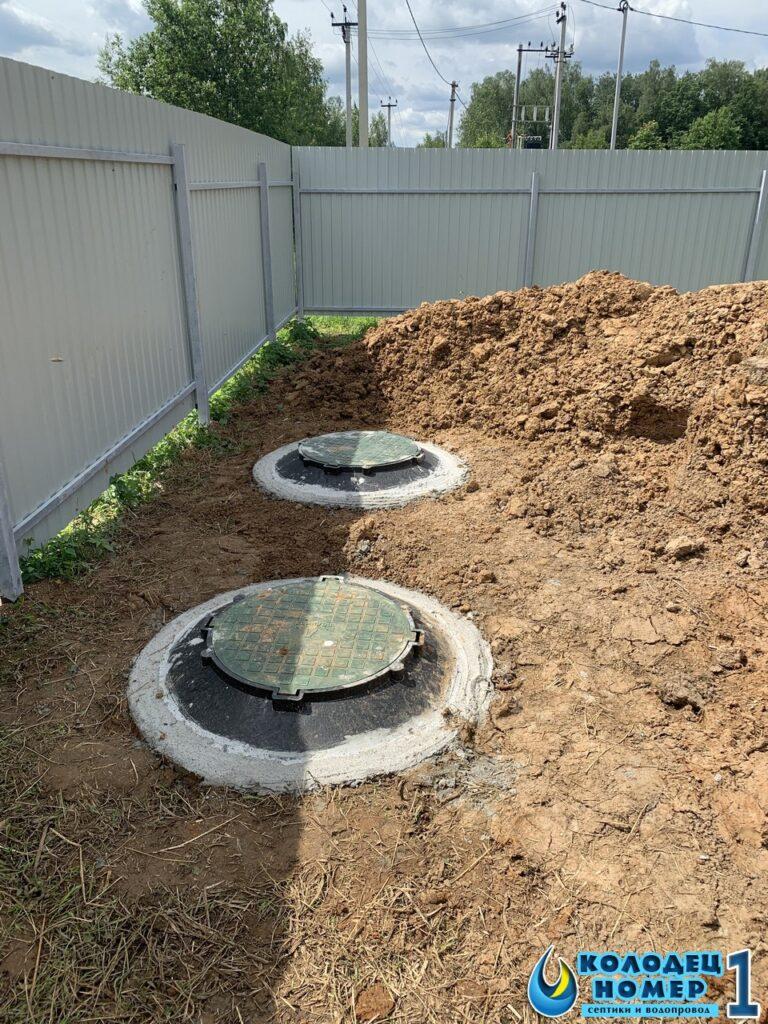 готовый бетонный септик под ключ