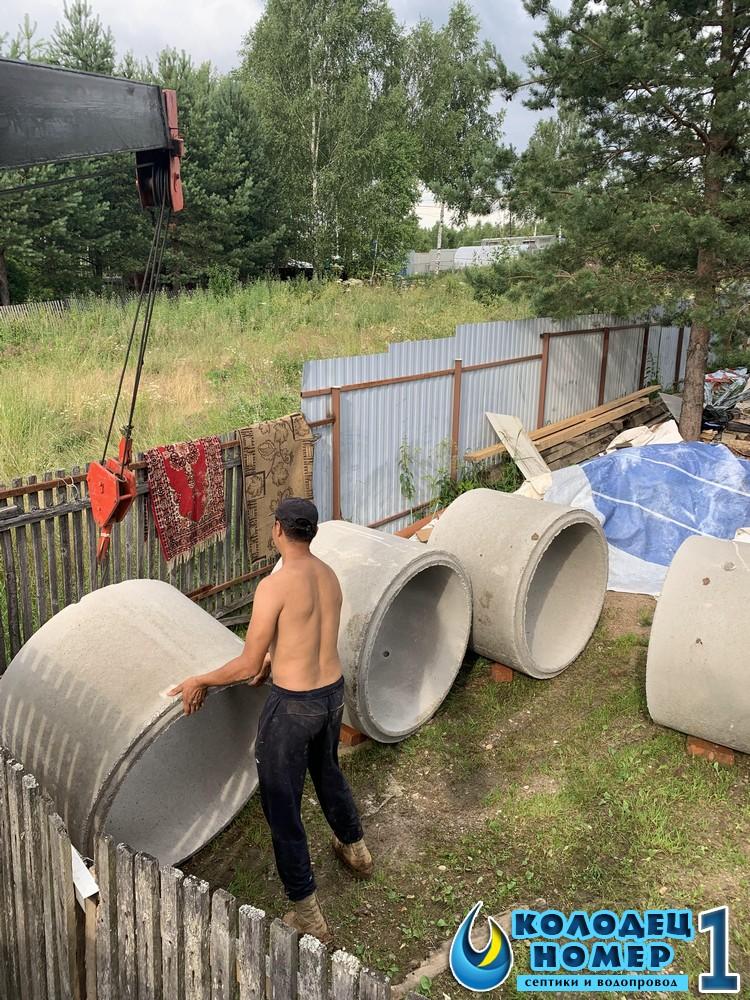 бетонный септик из колец стоимость под ключ московская область