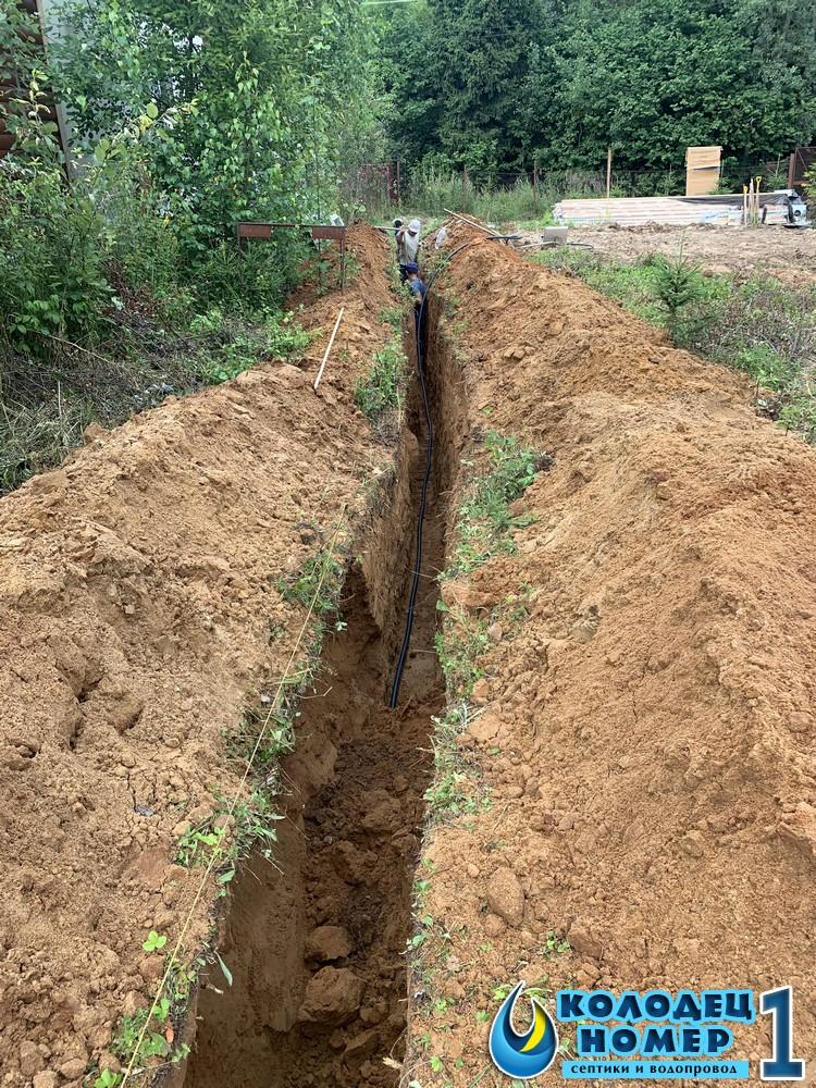 траншея для водоснабжения цена за 1 м